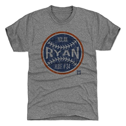 - 500 LEVEL Nolan Ryan Triblend Shirt Large Tri Gray - Vintage Houston Baseball Men's Apparel - Nolan Ryan Ball BO