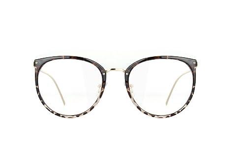 Amomoma Womens Fashion Clear Lens Round Frame Eye Glasses AM5001