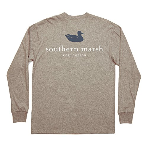Southern Marsh Men's L/S Authentic Washed Burnt Taupe S ()