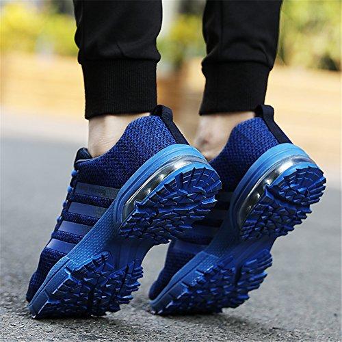 Herren Sportschuhe Turnschuhe Blau Fitness Atmungsaktiv Running Damen Laufschuhe Trainers Sneakers HMIYA tHxInf5qw6