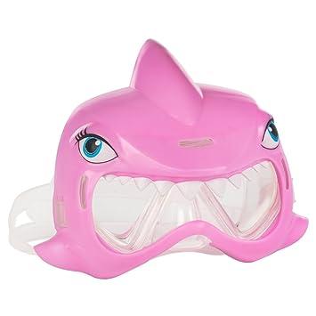 COLORBABY - Mascara para natación Aqua Kidz con diseño de tiburón, Color Rosa (53796