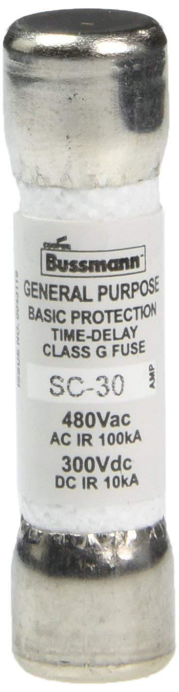 SC-30 30Amp Time-Delay Class Fuse G Melamine Tube 480V Bussmann New SC-30