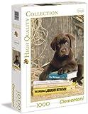 Clementoni - Puzzle de 1000 piezas, High Quality, diseño Laying On The Books (392308)