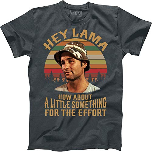 Hey Lama How About A Little Something for The Effort Vintage Retro T-Shirt Carl Spackler Caddyshack Dark Heather -