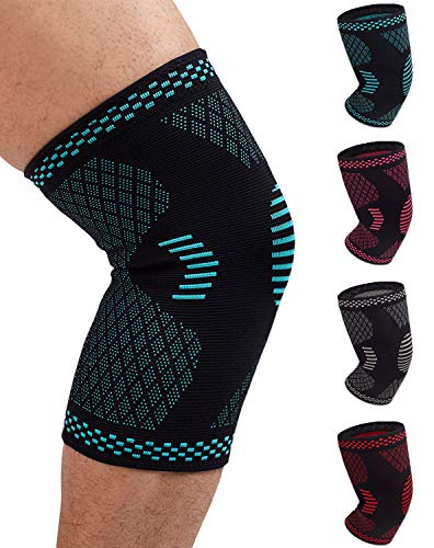 (Venture Pal Knee Compression Non-Slip Sleeve - Best Knee Brace Support for Running,Hiking,Basketball,Gym - Perfect Treatment for Joint Pain Relief,Meniscus Tear,Arthritis and Injury Recovery(Single))