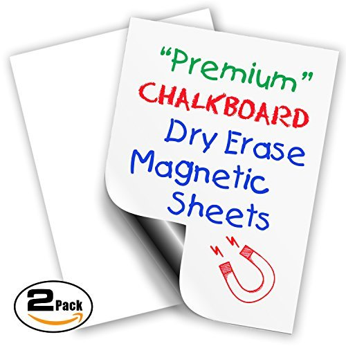 "Magnetic Dry Erase Sheets | White Blank 12"" x 16"" Magnet for Refrigerator and More