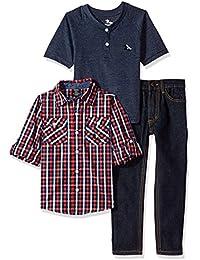 American Hawk Boys' Long Sleeve Shirt, T-Shirt and Pant...