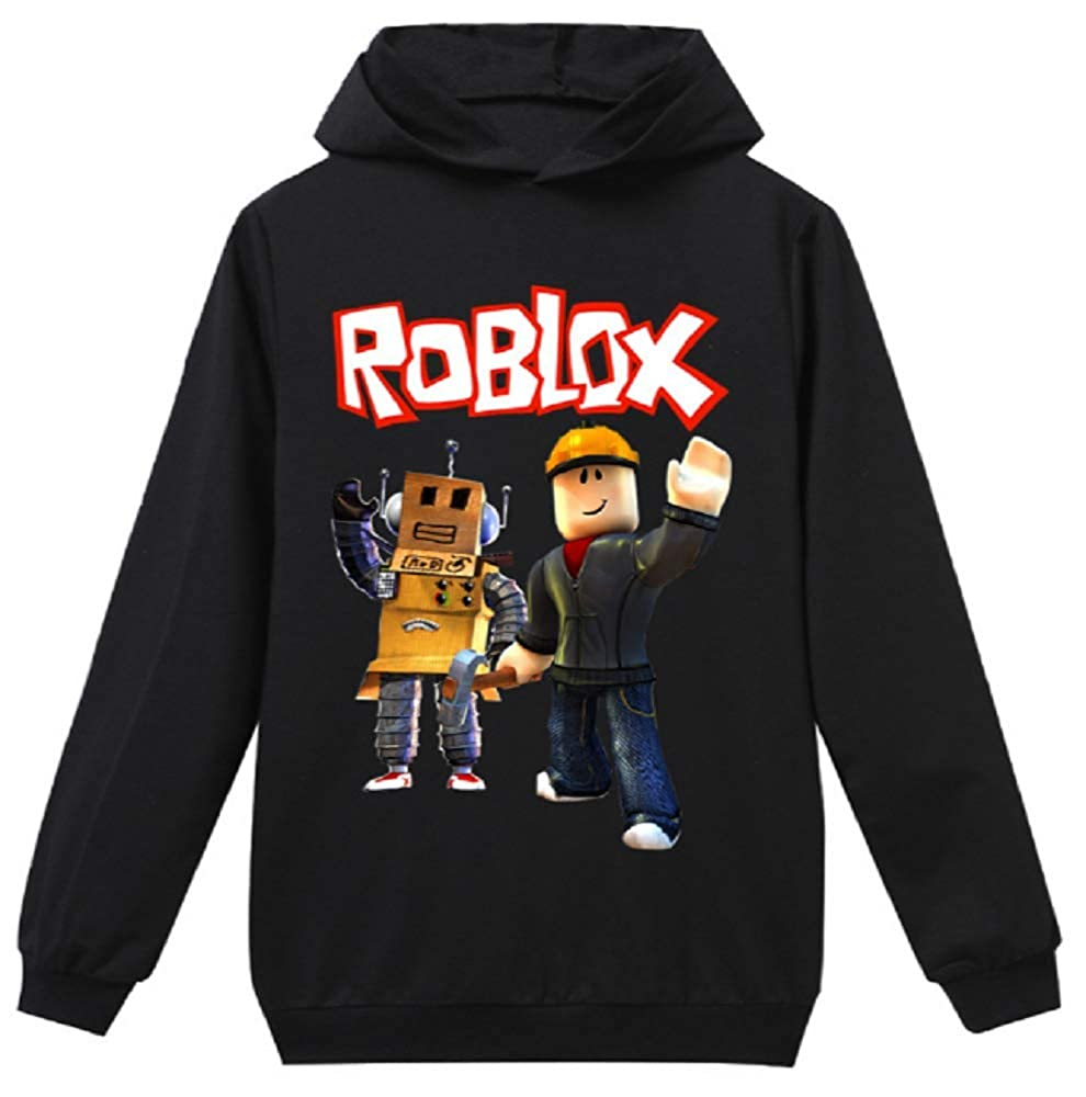 Amazoncom Roblox Boys Robot Hoodie Pullover Hooded - fashion hoodies roblox boys sports jacket kids cotton sweater child coat