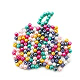 TOAOB Multi colors Tiny Satin Luster Glass Pearl Beads 8mm Wholesale Loose Beads for Jewelry Making Pack of 168pcs