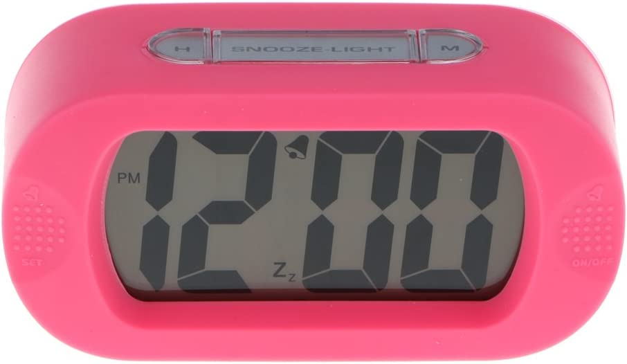 Sharplace R/éveil Pliable Horloge Lumi/ère Antichoc Num/érique /Écran LCD en Silicone Rose