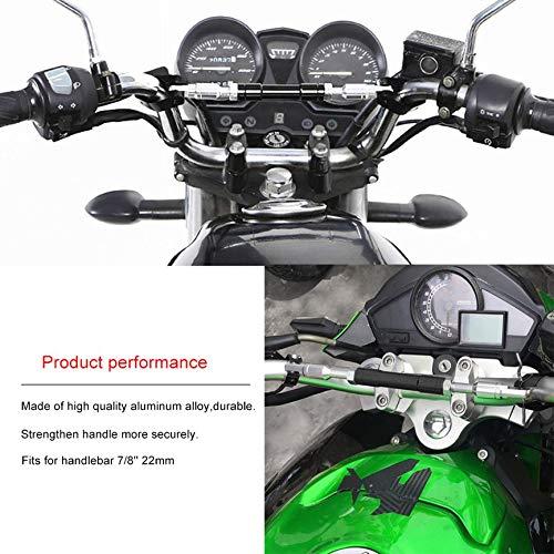 Peanutaor Universal 7//822mm Noir Aluminium Moto Guidon Cross Barre Volant Renforcer Guidon R/églable