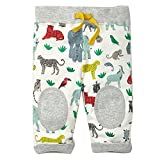 KIDSALON Little Boys Cotton Pants Drawstring Elastic Sweatpants (5T, Zoo)