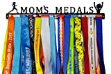 Crownyard Running Medal Holder - Mom's Medals Display Black | Medal Hanger Unique for Running Mom