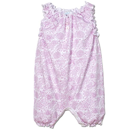 Price comparison product image Feather Baby Girls Clothes Pima Cotton Sleeveless One-Piece Sunsuit Bubble Shortie Baby Romper