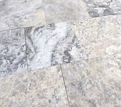 Silver 4x4 Honed Filled Travertine Mosaic Floor and Wall Tile (1sf Box ()