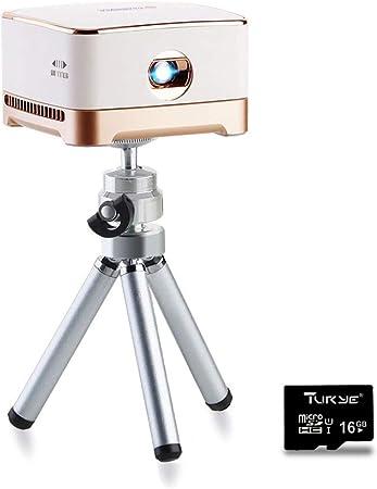 Amazon.com: Proyector portátil AMOOAW, proyector de película ...