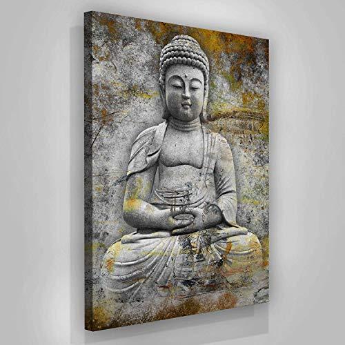 SuccessHuntersPrints Buddha Wall Art Canvas Print Meditaion Prints Home Decor Yoga Pop Art Office Decor Zen Sign Framed Buddha Statue Living Room Buddishm (48
