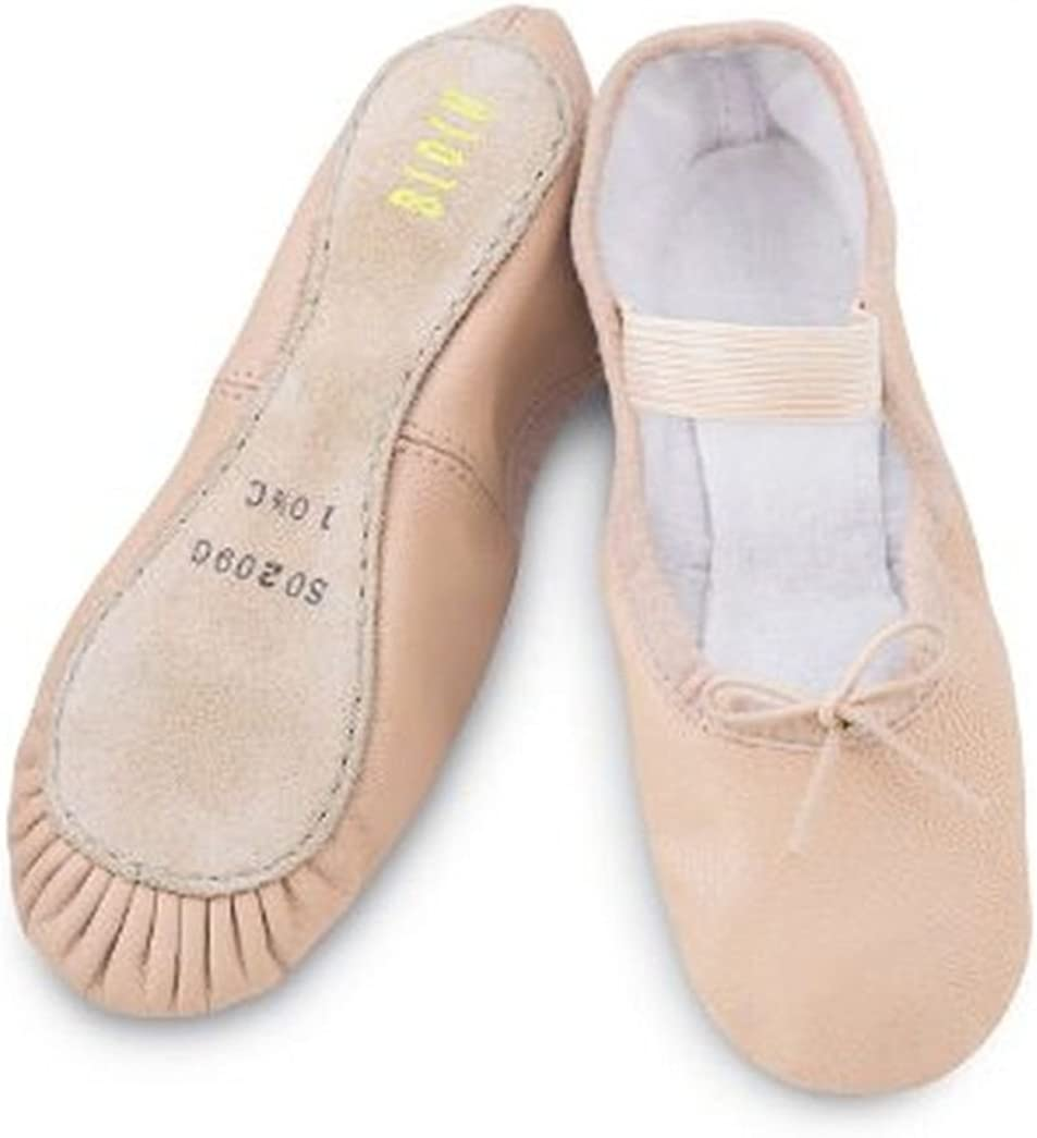 Bloch 209 leather ballet shoes full sole b width adult sizes new elastic sewn on