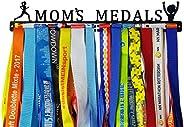 Crownyard Running Medal Holder - Mom's Medals Display Black   Medal Hanger Unique for Running