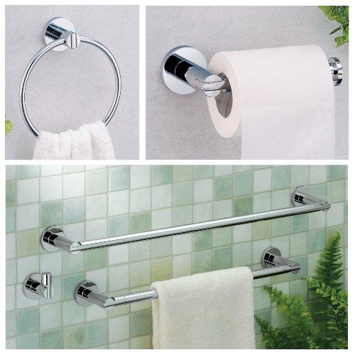 "on sale Gatco 4680 24"" Channel Towel Bar, Chrome"