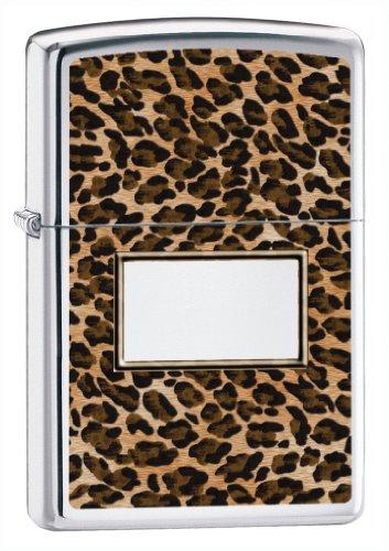 (Zippo Leopard High Polish Chrome Lighter)
