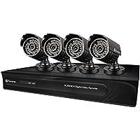 Swann SWDVK-832504-US DVR8-3250 8 Channel 960H Digital Video Recorder and 4 Bullet 650 TV Line Cameras (Black)