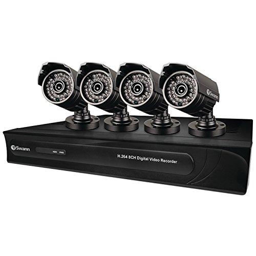 Swann SWDVK-832504-US DVR8-3250 8 Channel 960H Digital Video Recorder and 4 Bullet 650 TV Line Cameras (Black) (Line Dvr)