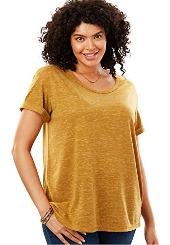 Women's Plus Size Marled Knit Tee
