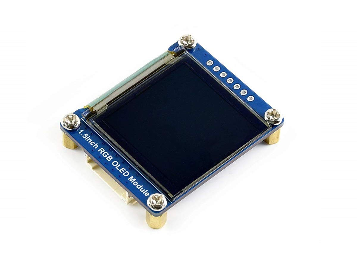IBest waveshare 1.5inch RGB OLED Display Module for Raspberry Pi//Arduino//STM32 128x128 Pixels 16-bit High Color 4-wire//3-wire SPI Interface SSD1351 Driver