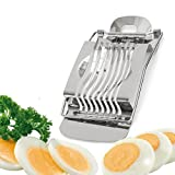 NeeJee Stainless Steel Boiled Egg Slicer Section Cutter Mushroom Tomato Cutter Kitchen Tool