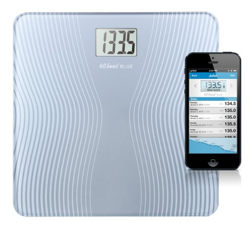 60beat Blue Bathroom Scale for iPhone 6, 6 Plus, 5, 5s, 5c, 4s and most iPads by 60beat