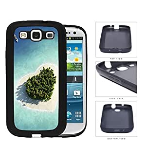 Heart Shaped Paradise Island Rubber Silicone TPU Cell Phone Case Samsung Galaxy S3 SIII I9300