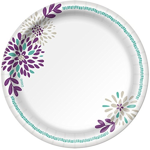 Dixie Everyday Paper Plates, 8 1/2'', 480 Count, 10 Packs of 48 Plates, Lunch or Light Dinner Size Printed Disposable Plates by Dixie (Image #2)