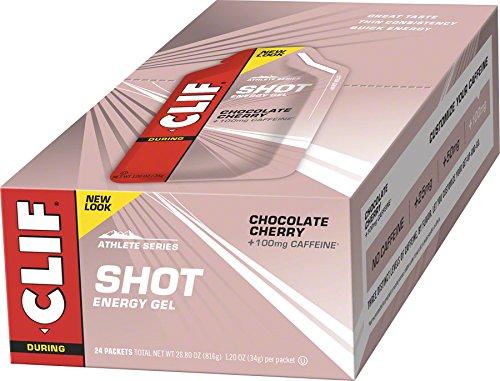 Cheap CLIFBAR Food Caffeine Choco Cherry Turbo Gel (Box of 24), 100mg