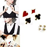 4x Novelty Poker Design Decor Enamel Pins Collar Brooches Breastpins Fashion