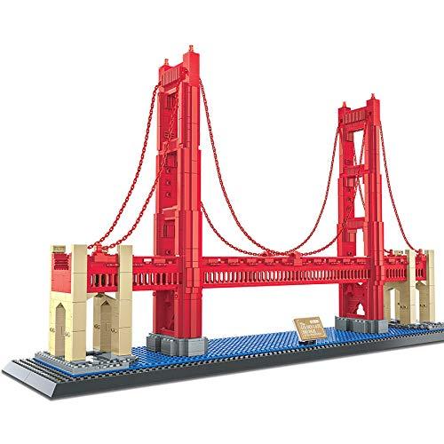 Fat Brain Toys Brain Bricks Landmarks: Golden Gate Bridge Building & Construction for Ages 6 to 12 - Golden Gate Bridge Landmark