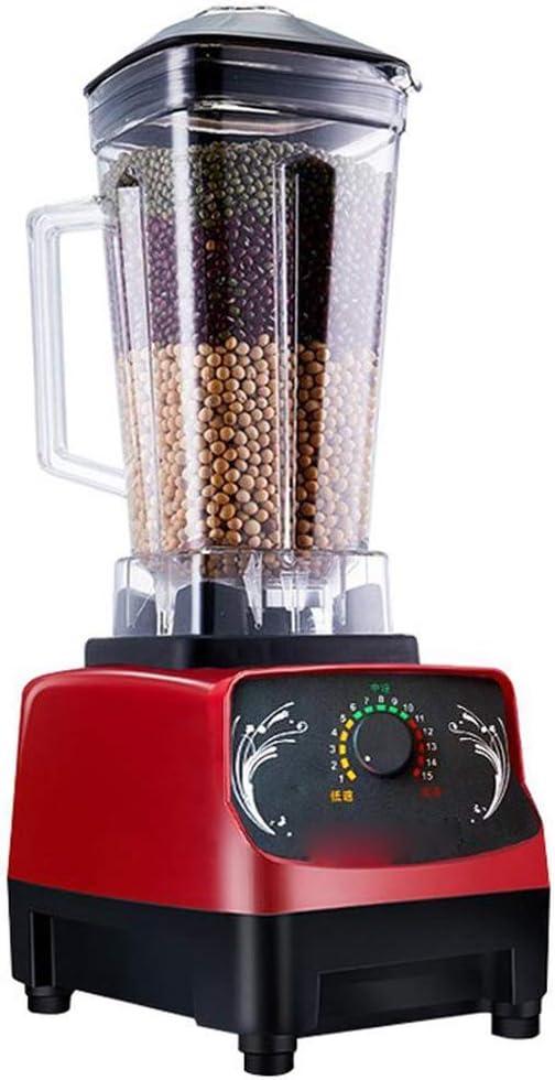 Jarra de la licuadora 1600W Profesional encimera licuadora con 15 velocidades de control for el hielo bebé nueces y mantequilla de alimentos Rojo ZHW345: Amazon.es