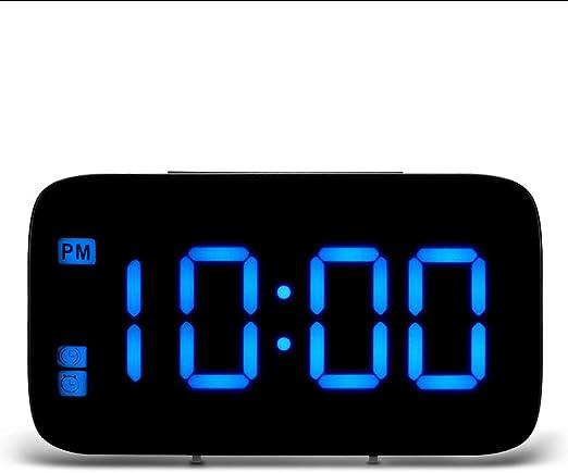 XIUHHE Digital Clock-Reloj Despertador LED, Control de Voz ...