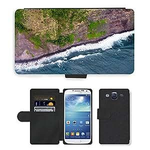 Super Stella Cell Phone Card Slot PU Leather Wallet Case // M00421838 Coast Shore Cliff Breakwater Sea // Samsung Galaxy S3 S III SIII i9300