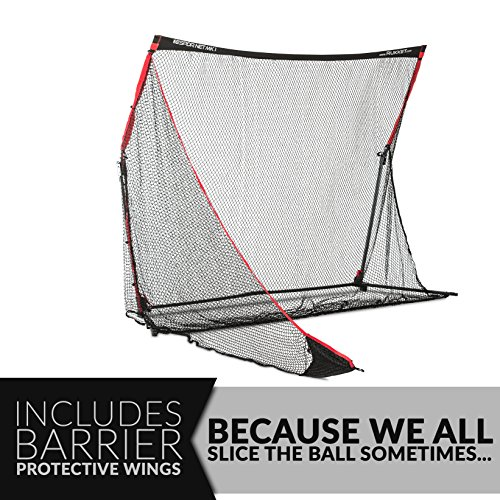 Rukket 4pc Golf Bundle | 10x7ft SPDR Driving Net | Tri-Turf Hitting Mat | Barrier Protective Wings | Carry Bag | Practice Indoor and Outdoor by Rukket Sports (Image #3)