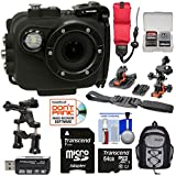 Intova X2 Marine Grade Wi-Fi HD Video Action Camera Camcorder Video Light + 64GB Card + Action Mounts + Backpack Case + Floating Strap + Kit