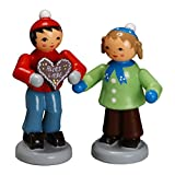 Zeidler Winter Love Couple Figurine Made in Germany