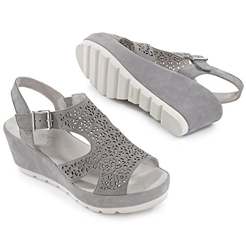 Sandalo grigio 19 Pietra Delle 45 Grigio Gabor Donne 742 dqS876xdBn