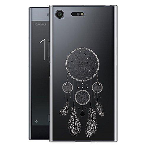 Funda para Sony Xperia XZ1 (No se aplica a Sony Xperia XZ1 Compact) , IJIA Transparente Expresión Fría (DONT TOUCH MY PHONE) TPU Silicona Suave Cover Tapa Caso Parachoques Carcasa Cubierta para Sony  WM22