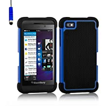 32nd Shock proof defender heavy duty tough case cover for Blackberry Z10 - Deep Blue