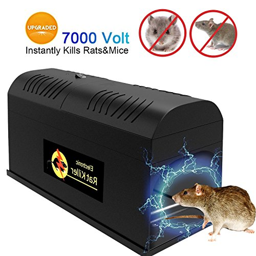 P PURNEAT Electronic Rat Traps, Mouse Rodent Traps Electronic,High Voltage Emitting,2018 upgraded Version Effective and Powerful killer for rat,squirrels Mice and similar rodents.