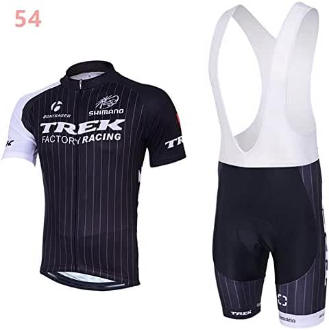 S-XXXL Men's Cycling Short Sleeve Jersey 3D Padded Bib Short Set Quick-dry Polyester