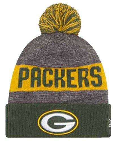 Team Knit Beanie (Green Bay Packers New Era 2016 NFL Sideline On Field Sport Knit Hat - Green Cuff)