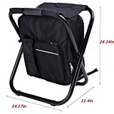 Backpack Chair,Portable Camping Stool,Foldable Chair with...
