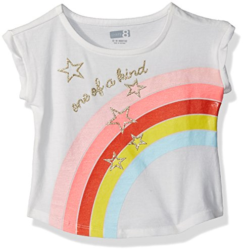 T-shirt Shorts Rainbow (Crazy 8 Girls' Toddler Short Dolman Sleeve Graphic Tee, Rainbow one of a Kind, 12-18 Mo)